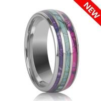 Különleges gyűrű három színű 7-es  ÚJ!