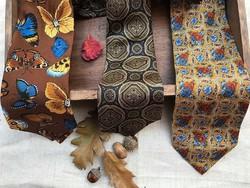 Tiszta selyem, márkás vintage nyakkendők