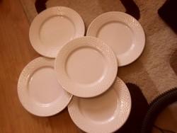 Fehér tányér 5 darab süteményes