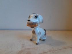 Aquincum porcelán art deco kutya, levehető fejű