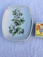 Kis kínáló tálka Holloházi porcelán virág motívummal - esetleg hamutál