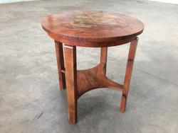Régi vintage kerek art deco asztal