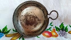 """BBI PRASENT Vintage régi jelzett borkóstoló tégely """"kopott ezüstözött"""""""
