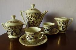Bambusz mintás Zsolnay kávés-6 személy