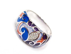 Ezüst női gyűrű (Szeg-Ag73835)