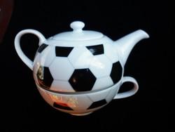 Tekanne nagyon ritka focilabdás tea szett