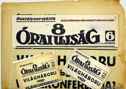 1943 február 27  /  8 Órai Ujság  /  RÉGI EREDETI ÚJSÁG Szs.:  4201