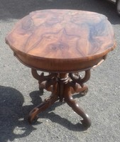Biedermeier póklábú asztal svartnis