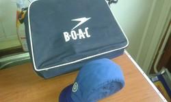 B O A C régi légitársaság táskája és sapkája