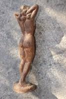 Szép Nagy 38cm Akt szobor hölgy öntöttvas