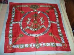 Vintage valódi selyemkendő