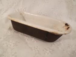 Fürdőkád - játék több mint 100 éves - nehéz - öntvény - ritka különleges darab 17,5 x 8 x 5,5 cm