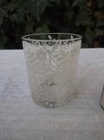Gyertyatartó - mécsestartó - festett üveg 6 x 5 cm