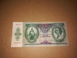 10 Pengős, szép régi bankjegy  1936-ból .