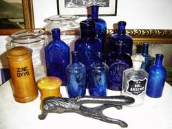 Antik gyógyszertári gyógyszerész patikus patikai patika gyűjtemény