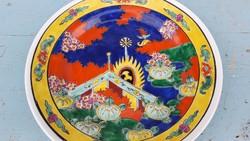 Kézzel festett japán dísztányér