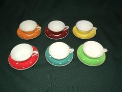 Retro Hollóházi pöttyös kávés csésze készlet