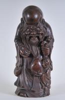 Antik kínai bambusz figura, egyike a nyolc Halhatatlan szentnek, 18. sz