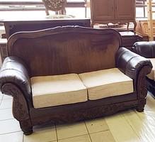 Amerikai szövet-bőr kanapé