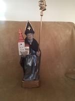 Fából faragott vallásos témájú szobor!
