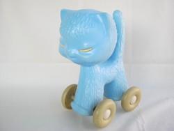 Retro trafikáru DMSZ műanyag játék macska cica