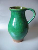 Antik, zöldmázas köcsög (27 cm)