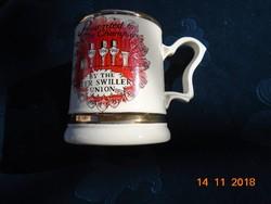 Vilmos Gloucesteri herceg ajánlatával 22 K arannyal díszítve,arannyal jelezve,sörös kupa