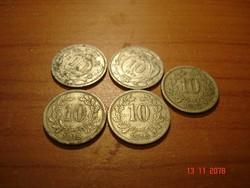 10 heller-Osztrák váltópénz