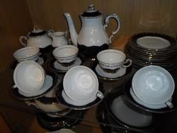 Zsolnay Pompadour III 6 személyes teás (hivatalosan mokkás) készlet