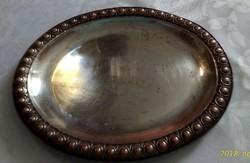 Ezüstözött alpakka tálca 23 x 18 cm