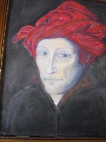 Turbános férfi,Jan van Eyck 1433, képe után