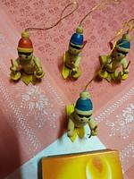 4 db. apró karácsonyi fa dísz