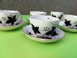 Aquincum porcelán kávéscsészék aljukkal