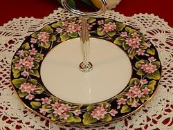 Royal Albert kínáló tányér fém fogantyúval Hibátlan, ritka szépség!