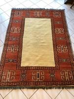 Különleges Afgán Kézicsomózású Szőnyeg - Modern enteriőrbe is - 208x153cm