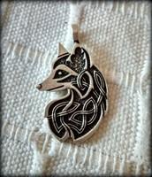 Új kelta róka medál