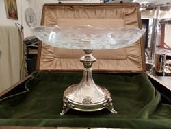 Antik ezüst asztalközép / aufsatz / kínáló