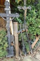Antik 150cm Öntöttvas 200 éves Faluszéli Kereszt feszület korpusz Ritkaság Óriási db