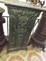 Csodás Szecessziós Áttört Öntöttvas Kályha villany melegítő 1930 vas kályha