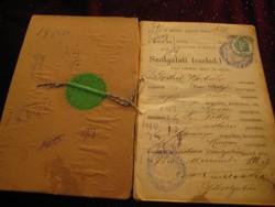 Cselédkönyv 1893 ból     12x18 cm