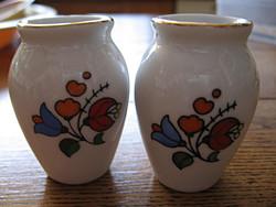 Kalocsai pici vázák párban