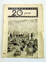 1937 február 1  /  SZÓRAKOZTATÓ 20 perc A VÁRÓSZOBÁBAN  /  RÉGI EREDETI ÚJSÁG Ssz.: 854