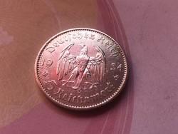 """1934""""A"""" ezüst III. birodalom 5 márka ,szép darab"""