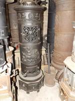 Ritkaság !!! Munkácsy Öntödéből 1880 oszlop kályha vaskályha