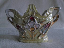 Antik szecessziós porcelán kosár szépség