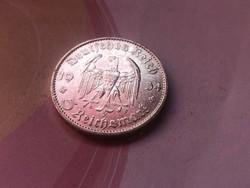 """1934""""D"""" ezüst III. birodalom 5 márka ,szép darab"""