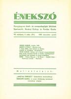 Énekszó - Hangjegyes ének-és zenepedagógiai folyóirat 1939. dec-jan. (RITKA) 500 Ft