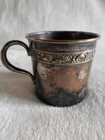 Cizellált fém pohár szép patinával