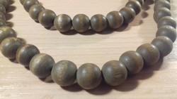 Hosszú fa gyöngy nyaklánc 045
