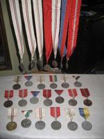Atlétikai érmek/ 36 db/ 1952 -1962-ig+egy emlékplakett